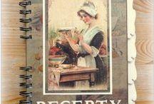 Receptáře / ukázky vlastnoručně vyrobených receptářů