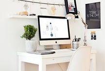 Decor: Study Space / Ideas for my office. Desk. Office Space. Desktops. Colour. Decor.