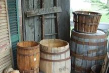 WOODEN BUCKETS/BARRELS