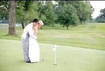 Golf Course Wedding Picture Ideas / Unique Golf Picture ideas.