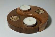 wood candle holders / ahşap işleme