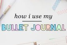 Tips: Bullet Journals / Bullet journals are the best way to organise a busy life! The Bullet Journal is a customisable and forgiving organisation system. It can be your to-do list, sketchbook, notebook, and diary, but most likely, it will be all of the above. It will teach you to do more with less.
