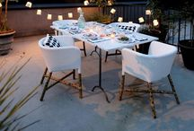 Decor: Dining Space / Dining rooms. Outside dining areas. Dining tables. Dining chairs.