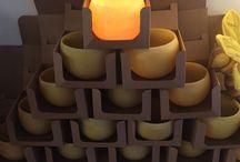 Beeswax Bowls / 100% pure beeswax bowls