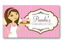 Business Cards : Food Themed  / a lot of these cards are from me ... and some are not from me ... all of them are set up as templates so all you have to do is enter your information into the boxes - take a look at your card and then purchase - no waiting and super easy!