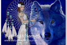 Business Cards : Fantasy  / Most of these business cards are from me ... some are from other artists ... unique designs and great fantasy looks ... click on the image and then click on the larger image to customize the business card for yourself ...