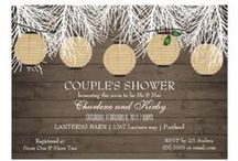 Invitations : Wedding Winter / here are winter wedding ideas - invitations, bridal showers, save the date and more ...