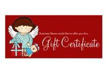 Business : Gift Certificates / here is a large and growing selection of gift certificates you can purchase to hand out to your customers ... CLICK on the website button above the post/pin or click on the larger image when viewing the pin - most of these are from me but some are from other talented designers ... (psst they are less expensive then you think :)