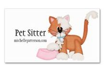 Business Cards : Pet Themed / these are good for pet sitters, dog walkers, boarding facilities, doggie daycares or veterinarian's ...