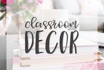 Classroom Decor | Classroom Design / Here you will find inspiring, organized, beautiful, chic, fun classroom decor for the modern classroom!