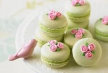 French Macaroons / French macaroons are sweet meringue-based confection made with eggs, icing sugar, granulated sugar, almond powder or ground almond, and food colouring.