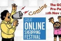 Great Online Shopping Festival by Google / GOSF Offers 2014:- Get Discount Offers during Great Online Shopping Festival Powered by Google.
