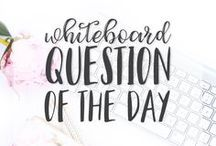 Whiteboard Question of the Day / This board is a collection of Questions of the Day for the Whiteboard or Smartboard created by / inspired by Miss 5th!