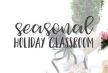Seasonal - Holiday Classroom / Back to School - Labor Day - Fall - Autumn - Halloween - Veteran's Day -  Thanksgiving - Winter - Christmas - Hanukkah - New Years - Valentine's Day - Presidents' Day - St. Patrick's Day - Spring - Spring Break - Easter - Mother's Day - Memorial Day - End of the School Year - Summer - Father's Day This board is where you can go to find math, reading, social studies, science, and art resources for many different holiday!