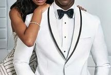 White & Ivory Tuxedos / Stand out with a white or ivory tuxedo! Stop into Milroy's and check out our great selection of suits and tuxedos on display and find the perfect look for your big day!  www.MilroysTuxedos.com