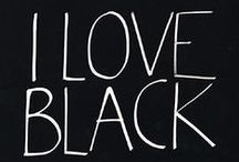 I love black! / Black is a colour