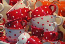 Red and White Polka Dots / Polka dots make my heart sing
