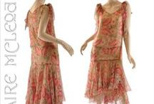 1920s fashion and accessories / 1920s day dress, afternoon dress, cotton house dress, everyday accessories