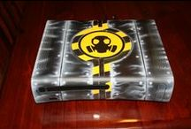 Airbrushed Gaming Consoles