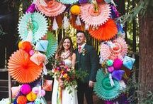 Colorful Wedding Inspiration / Colorful, bright, and vibrant wedding inspiration including everything from place cards, invites, decor, and more! Brought to you by Milroy's Tuxedos.  www.MilroysTuxedos.com