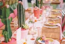 Summer Wedding Inspiration / Summer wedding inspiration including everything from place cards, invites, decor, and more! Brought to you by Milroy's Tuxedos.  www.MilroysTuxedos.com