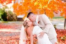 Fall Wedding Inspiration / Fall wedding inspiration including everything from place cards, invites, decor, and more! Brought to you by Milroy's Tuxedos.  www.MilroysTuxedos.com