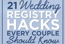 Registry Ideas / So what do you put on a registry? We've got you covered! Brought to you by Milroy's Tuxedos.  www.MilroysTuxedos.com