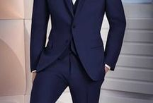 Navy & Blue Tuxedos / When you want to stand out a little, think about a blue or navy tuxedo! Stop into Milroy's and check out our great selection of suits and tuxedos on display and find the perfect look for your big day!  www.MilroysTuxedos.com