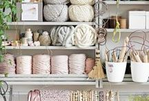 SEWING SPACES / Here you will find incredibly creative craft spaces, sewing rooms, and quilting rooms.  These folks have some great ideas for what a sewing space should look like.