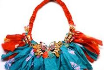 Earth Heir Jewellery / Our range of handmade jewellery with handwoven silk scarves and semi precious stones!