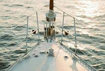 Les bateaux et l'océan