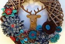 stofFUN ♥ fall wreaths / Lovely fall wreaths to make
