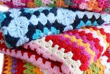 stofFUN ♥ plaids / All sorts of crocheted plaids in great colour combinations