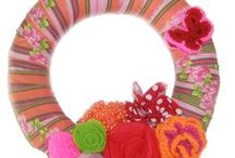 stofFUN ♥ spring wreaths / Spring wreaths that make you long for spring to come!