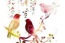 Art of Birds / Illustration of Birds. Illustration,pictures,art,Painting 鳥のイラストです。