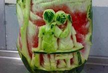 Food Art ☽↡☾ Sculpture Fruits et Légumes / #sculpture #fruits #légume