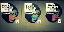Puppet master / #puppetmaster #fucksociety #neil harbisson puppet master, fuck society, neil harbisson, graffiti