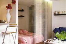 STUDIO / Idées d'aménagement et d'agencement pour les petits espaces.   Appartements, appartment, studios, small, tiny house,