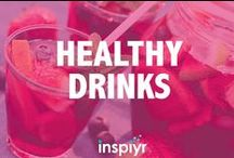 Healthy Drinks / Non-alcoholic or alcoholic, drinks can be sneaky with their calorie count. Here are some facts and recipes for healthy drinks to help you drink smart.