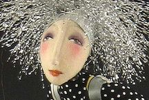 Art Dolls & Animals / Art dolls, Paper Mâché & Mixed Media / by Connie Fulton