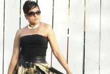 Black & Gold Circle Skirt!!! / Women's fashion