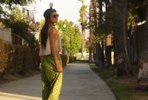 African Print Harem pants! / My daughter modeling for the blog this week for her mom!