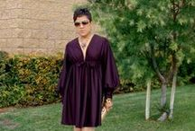 Vogue 7630 Vintage V-Neck Dress / Vintage Vogue Plum Dress