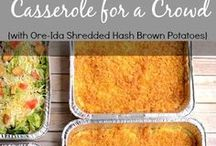 Casseroles - as Main or Side
