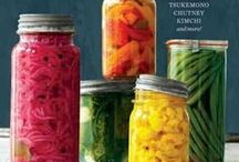 Pickling, Fermentation & Relishes / Pickles, Relishes (& chutneys-not here) share similar character. They can all be sweet, spicy, hot or mild.  Vegetables (okra, etc), Fruits (peaches, etc.), and Meats (shrimp, etc...) can all be pickled.  Fermented foods go through Lacto-fermentation. Bacteria feed on sugars/starch in foods creating lactic acid, preserving and creating beneficial enzymes, b-vitamins, Omega-3's, and various probiotic strains. Relishes can combine various vegetables and/or fruits and may be used as a condiment.