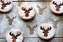 Christmas Noel / préparation de Noel avec des petits gâteaux , des desserts gourmands