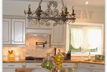 Dream Kitchen / white kitchens, cream kitchens, french country kitchens, restoration hardware dining chairs, dream kitchens, chef kitchens, island ideas, pottery barn inspired. Farmhouse kitchens, apron sinks. Beautiful kitchen, kitchen inspiration