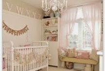 Girls bedroom Nursery Ideas / shabby chic nursey decor, white beadboard walls, pastel colours, pink bedroom ideas, soft bedrooms, girly bedrooms, playroom ideas. Nursery Inspiration. Nursery ideas. playroom inspiration.