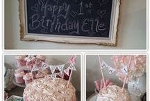 Birthday Party Ideas / shabby chic birthday ideas, 1st birthday party, girl birthday parties. Birthday party ideas. Birthday party inspiration