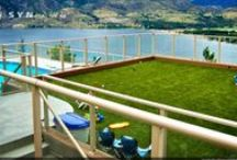 Rooftop Decks / We can create beautiful oasis on your rooftop deck using SYNLawn!